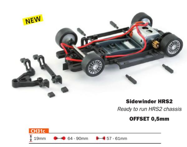 Slot.it Komplettchassis HRS-2 / Sidewinder