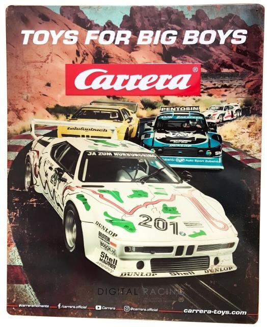 Carrera Blechschild 50 x 40 cm - Retro Plate 3