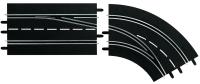 Carrera Digital 124/132 Spurwechselkurve (2-teilig) Rechts / Außen nach Innen