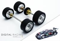 Tuningkit für Carrera 1:32 DTM Fahrzeuge ( Vorder + Hinterachse )