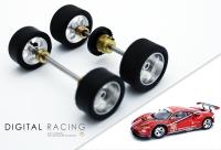 Tuningkit für Carrera 1:32 Ferrar 488 GTE ( Vorder + Hinterachse )