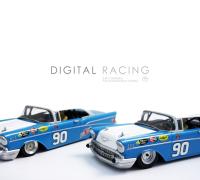 3D Druck Chassis DR für Carrera Chevrolet Bel Air ( D132 )