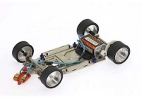 Scaleauto 1:24 Metallchassis SC-8000 R4 m. PU Reifen / 1 Stück