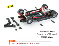 Slot.it Komplettchassis HRS-2 / Sidewinder