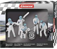 Carrera 1:32 Figurensatz Mechaniker Carrera Crew Silber