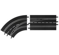 Carrera Digital 124/132 Spurwechselkurve (2-teilig) Links / Außen nach Innen